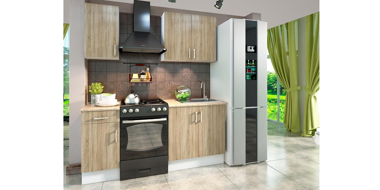 Модульная кухня Женева (белый/дуб сонома) Женева