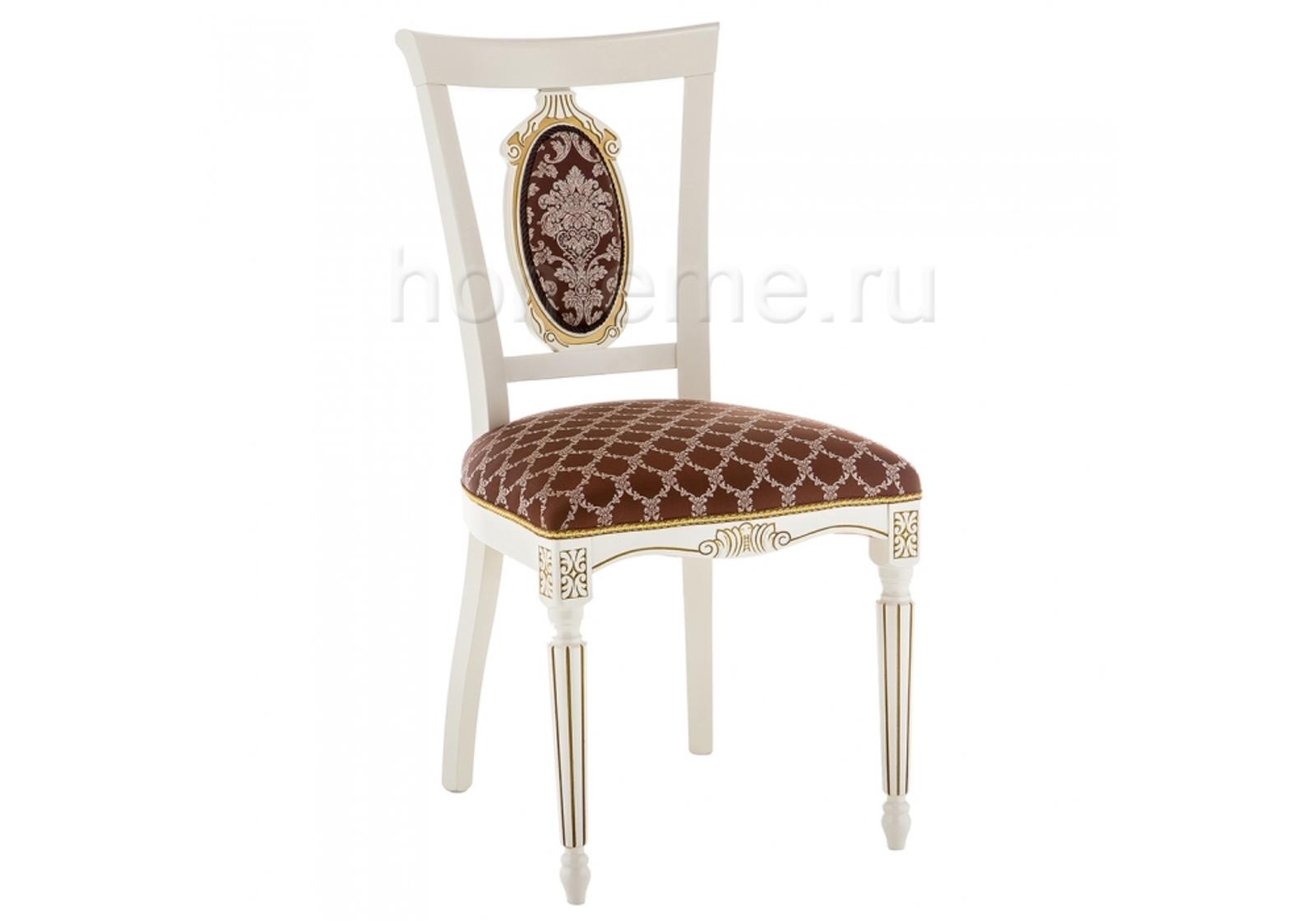 Стул HomeMe Лино патина золото / шоколад 309310 от Homeme.ru