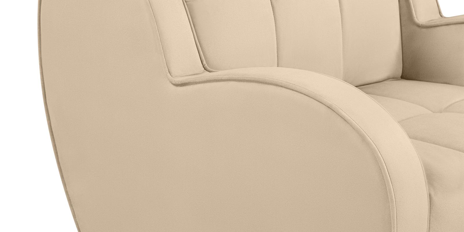 Кресло тканевое Барон Velure бежевый (Велюр) от HomeMe.ru