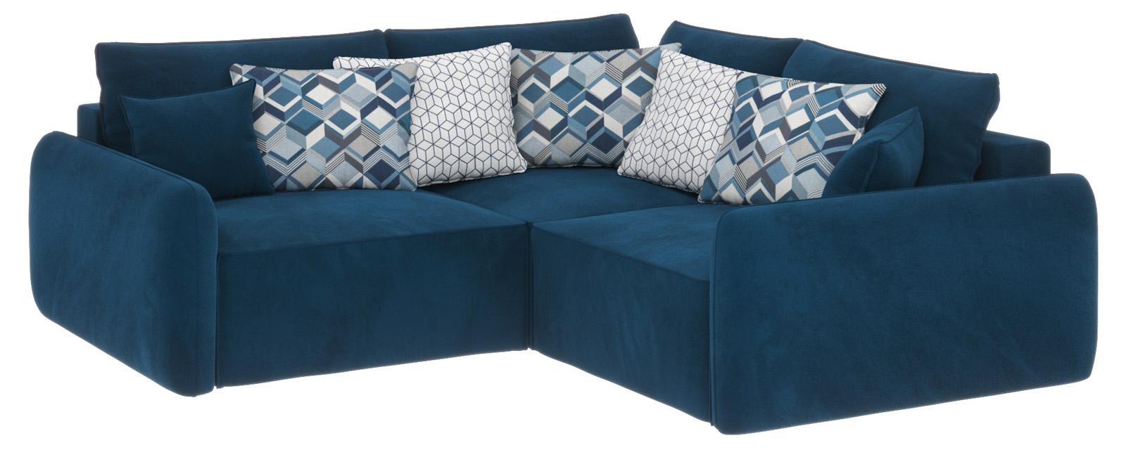 Купить Модульный диван Портленд вариант №6 Premier светло-синий (Микровелюр), HomeMe, Светло-синий