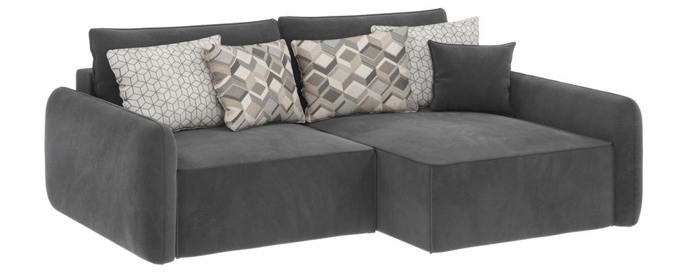Модульный диван Портленд вариант №4 Premier серый (Микровелюр, правый)