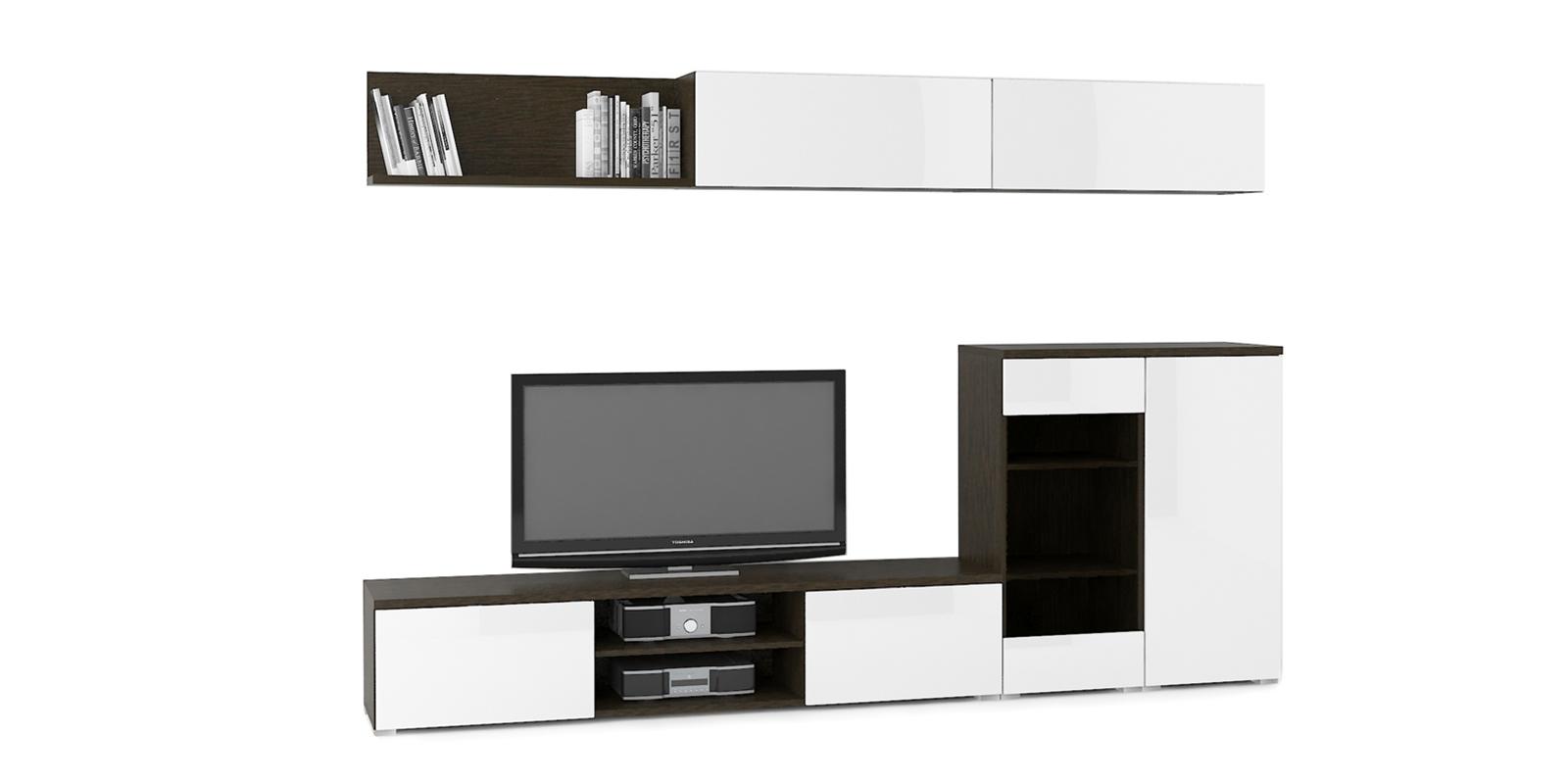 Модульная система Верона вариант №7 (венге/белый глянец) от HomeMe.ru