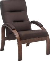 Кресло Leset Лион Орех текстура, ткань Малмо 28