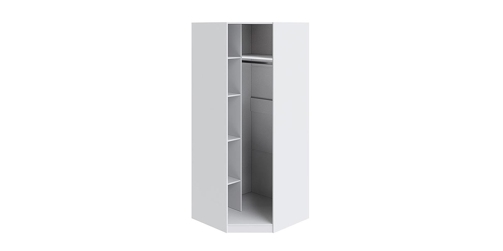 Шкаф распашной угловой Мерида вариант №3 (белый/зеркало)