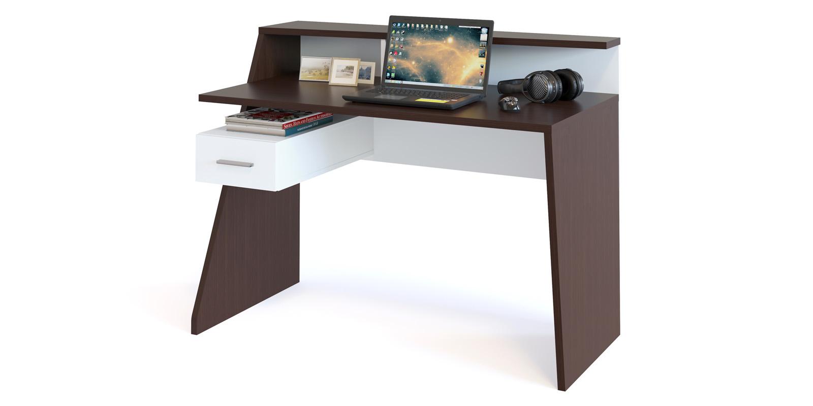 Стол компьютерный Альба (венге/белый)
