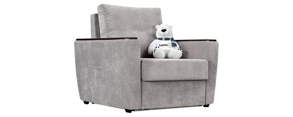 Кресло тканевое Майами Velutto светло-серый (Велюр)