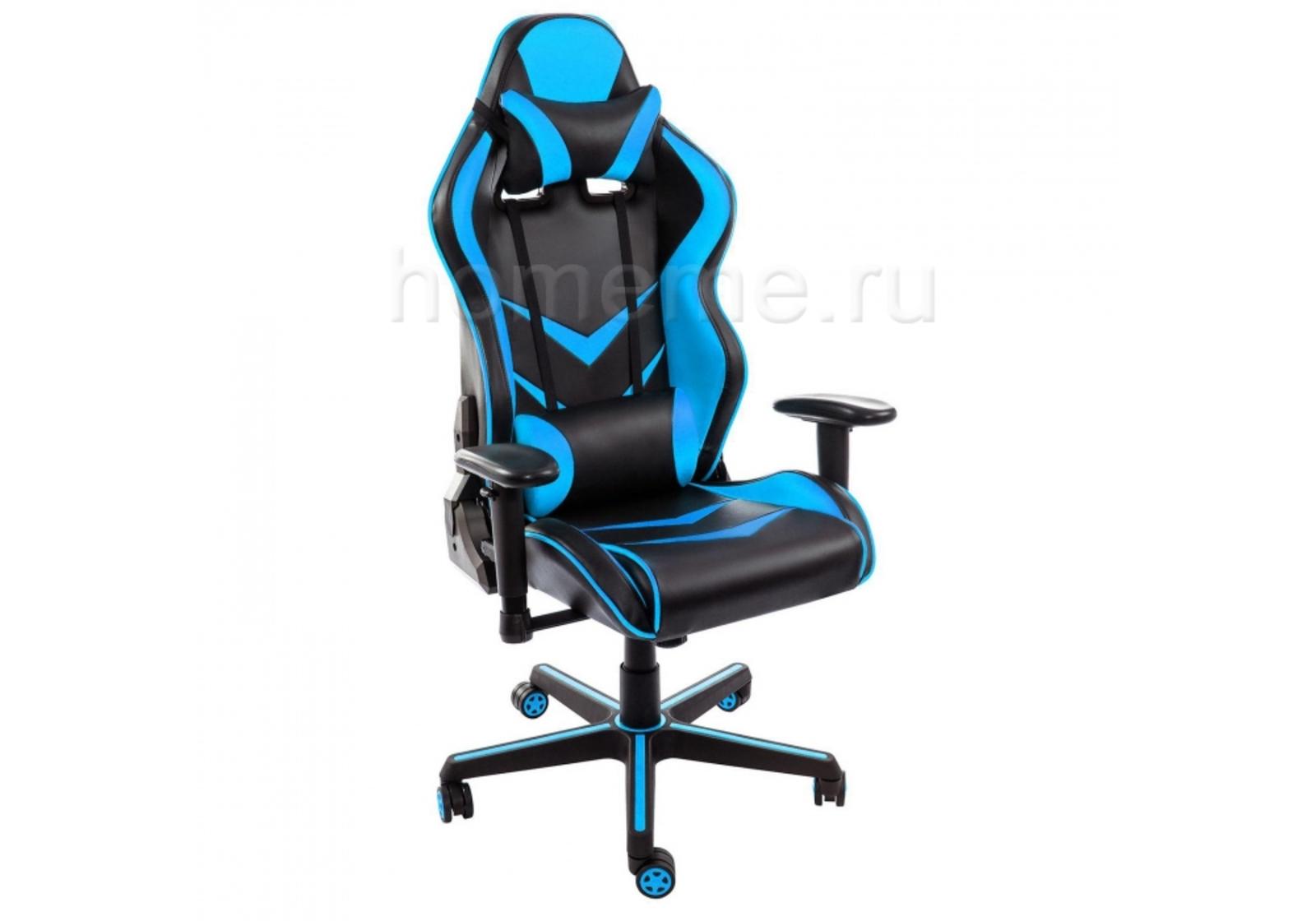Кресло для офиса HomeMe Racer черное / голубое 1856 от Homeme.ru