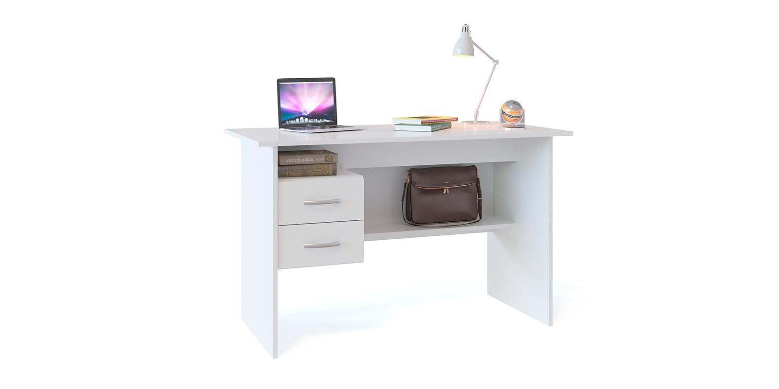 Стол компьютерный Сноу вариант №1 (белый) Сноу