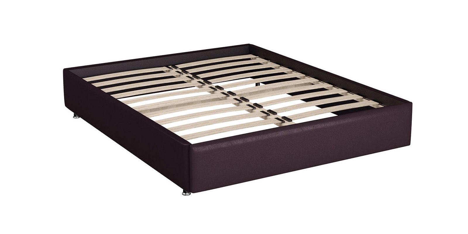 Мягкая кровать 200х160 Малибу вариант №8 с ортопедическим основанием (Бежевый/Шоколад)