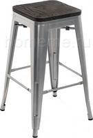 Tolix Bar wood CColl T-2103B-26 alum / brown walnut 351641
