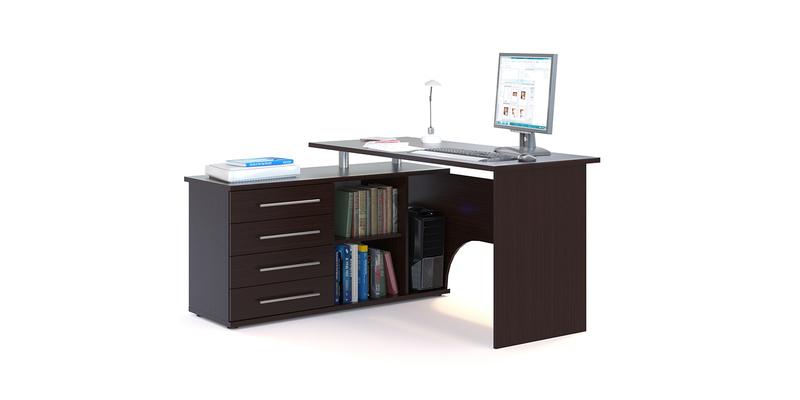 Стол компьютерный Сноу левый угол (венге)
