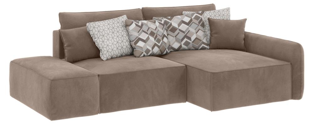 Модульный диван Портленд вариант №3 Premier тёмно-бежевый (Микровелюр, правый)