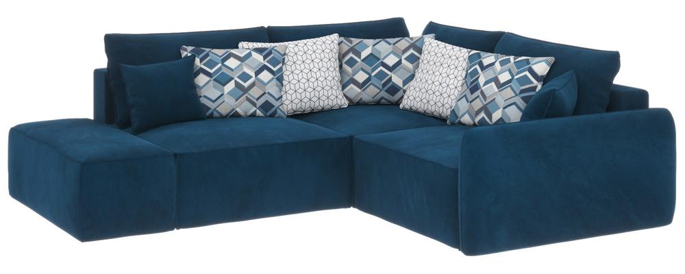 Модульный диван Портленд вариант №1 Premier светло-синий (Микровелюр, правый)