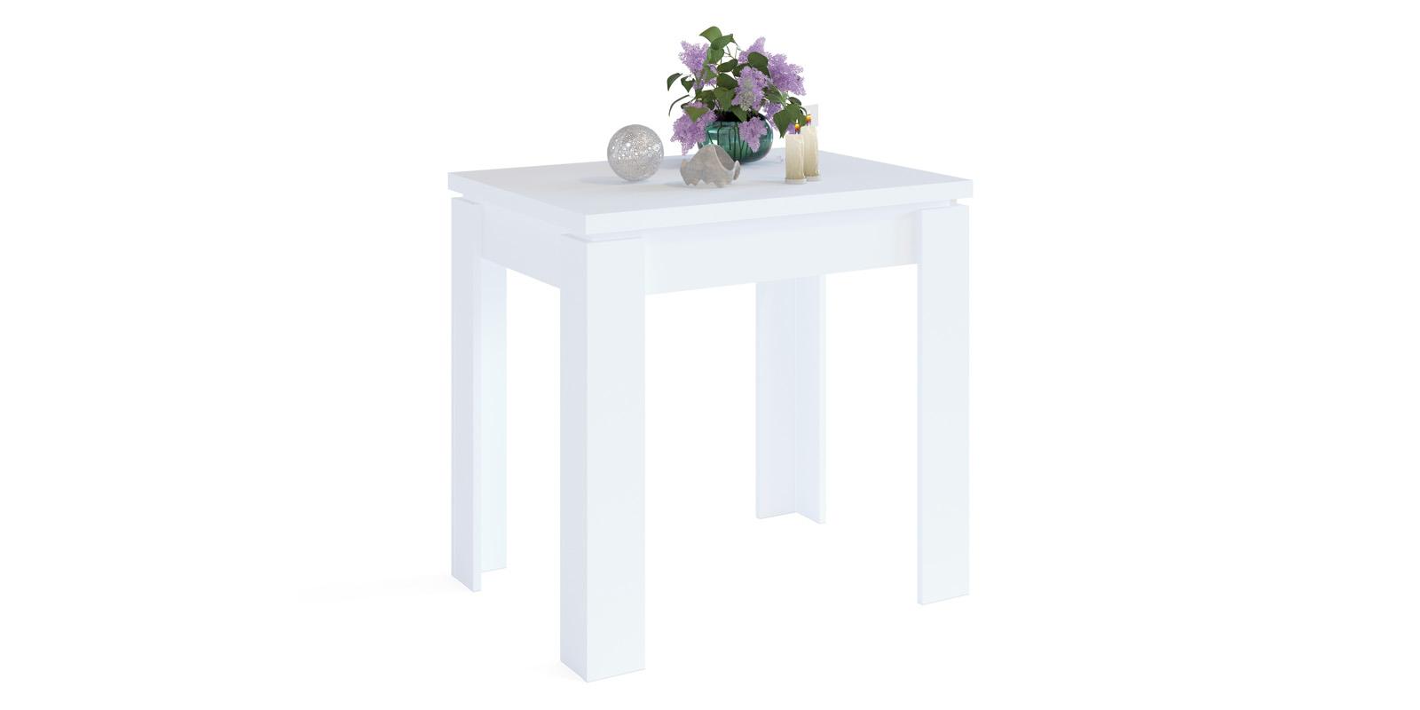 Обеденный стол Лутон вариант №1 (белый)