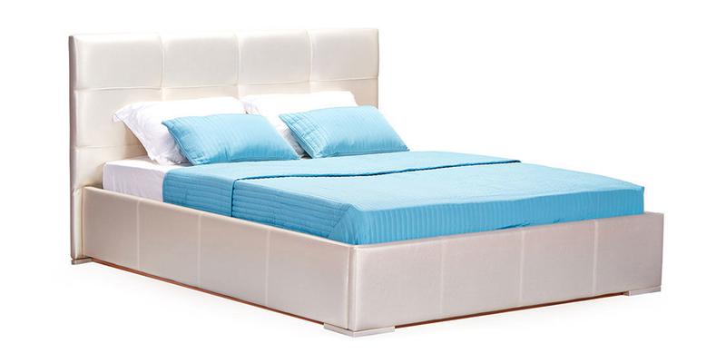 Кровать мягкая Лайф без подъемного механизма (Перламутр)