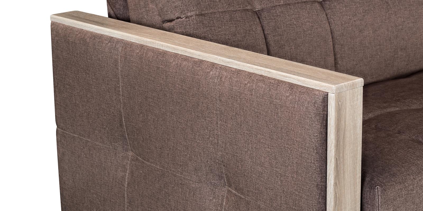 Диван тканевый прямой Валенсия Olympia светло-коричневый (Велюр)