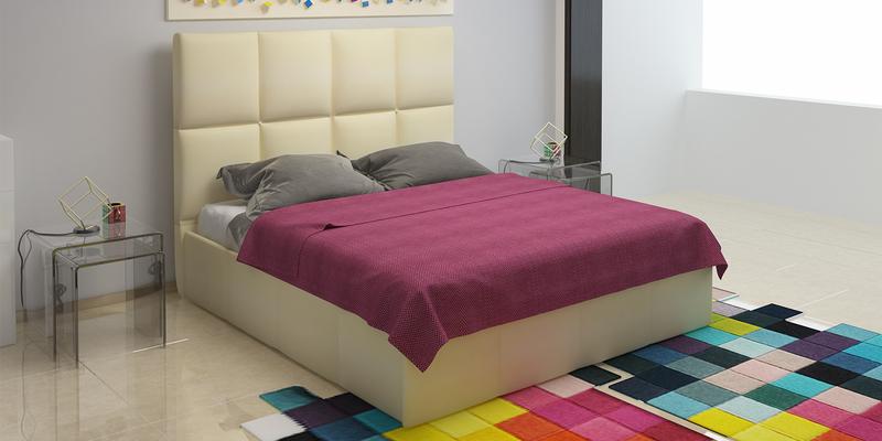 Мягкая кровать 200х160 Сицилия с подъемным механизмом (Перламутр)