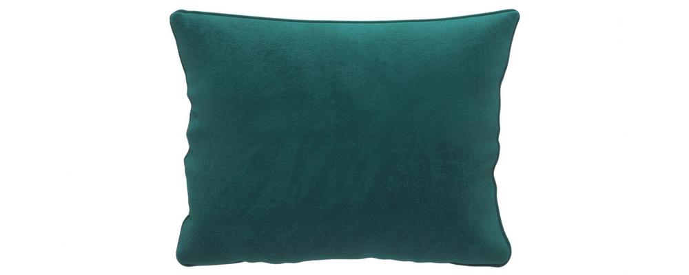 Декоративная подушка Портленд 60х48 см Premier вариант №1 изумрудный (Микровелюр)