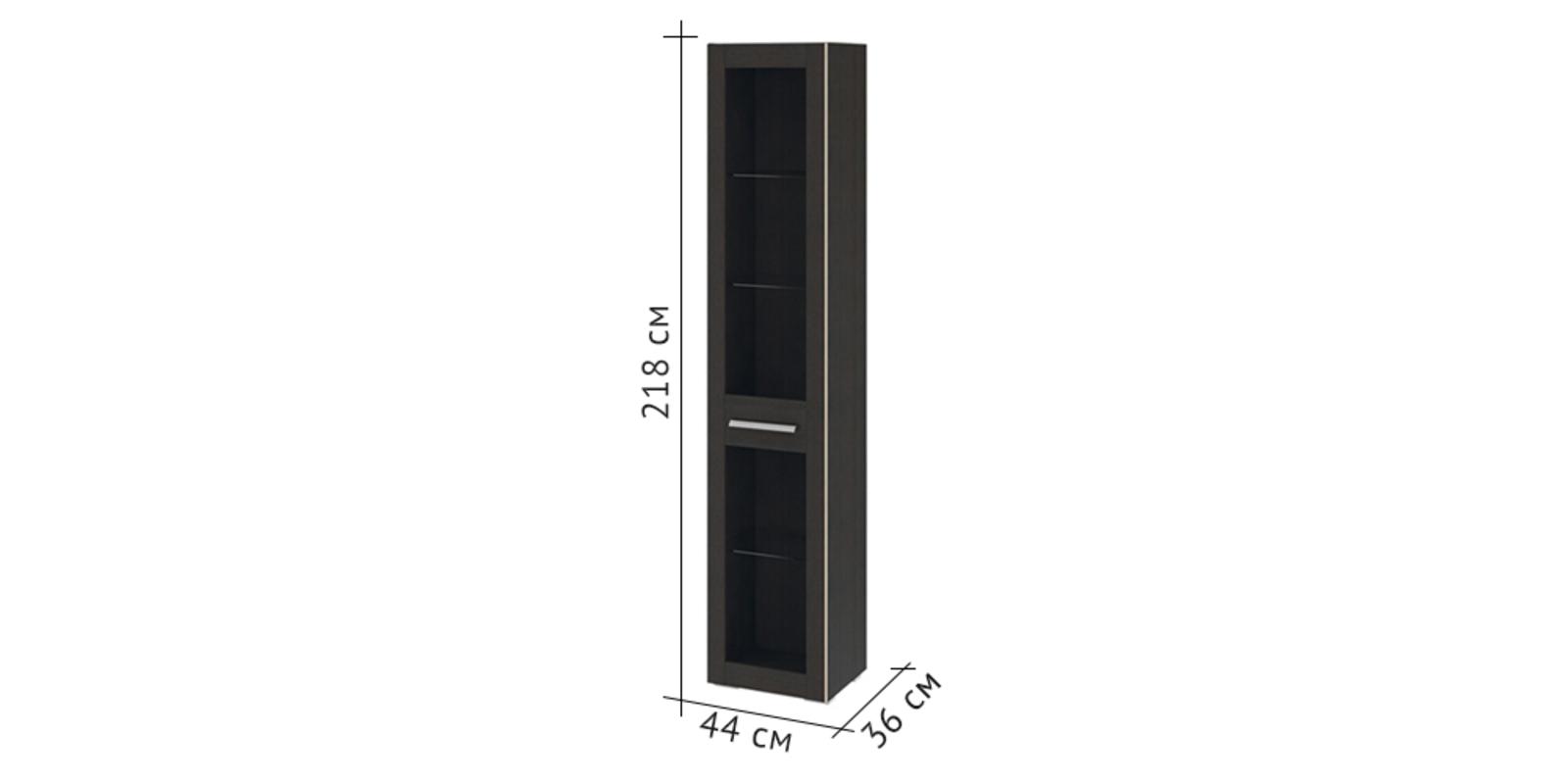 Шкаф витрина Калгари левый (дуб кастано) от HomeMe.ru