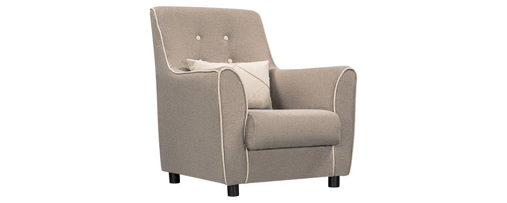 Кресло тканевое Флэтфорд Kiton серый (Рогожка)