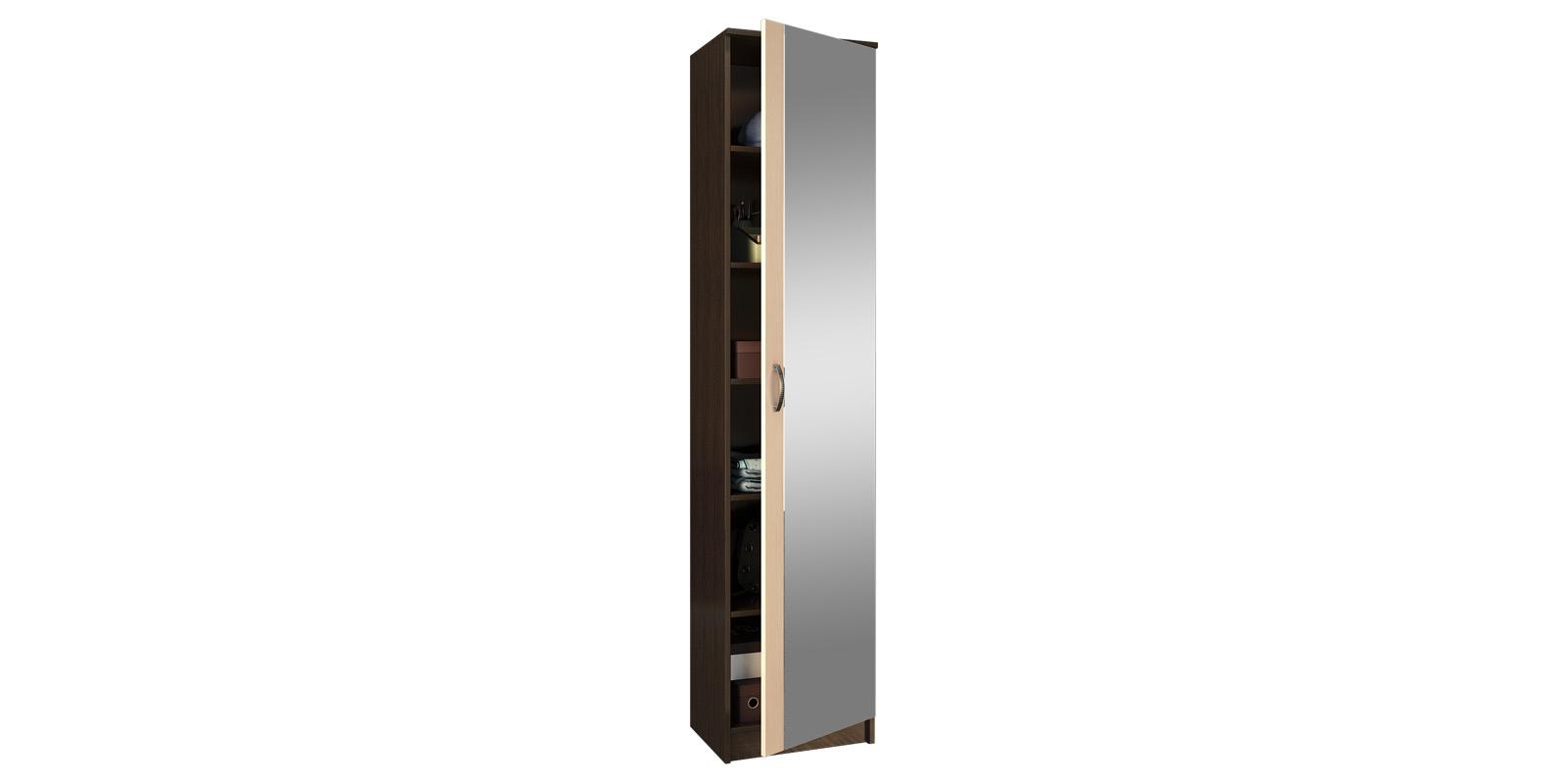 Шкаф распашной однодверный Хельга вариант №2 (венге/дуб молочный)