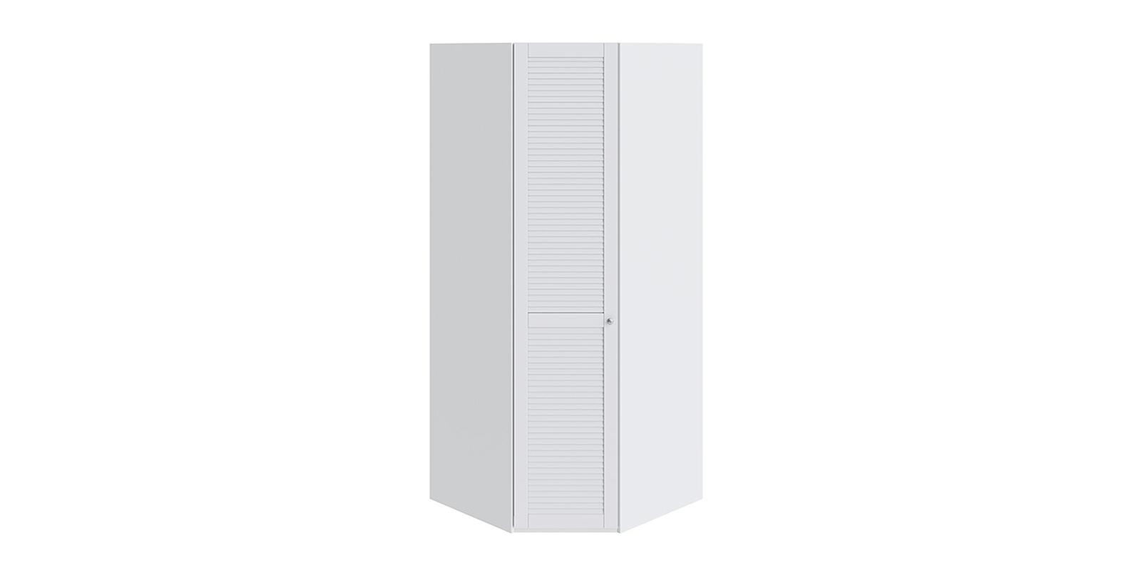Шкаф распашной угловой Мерида вариант №4 левый (белый)