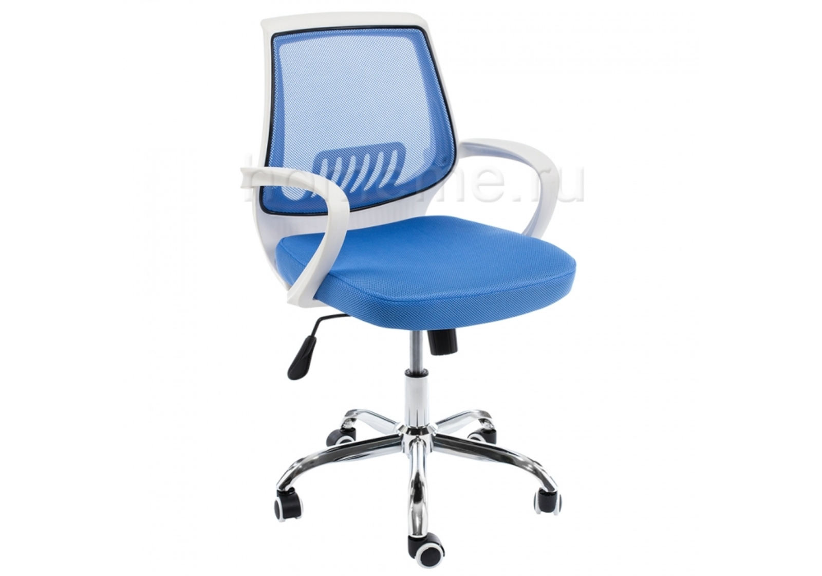 Кресло для офиса HomeMe Ergoplus белое / голубое 1971 от Homeme.ru