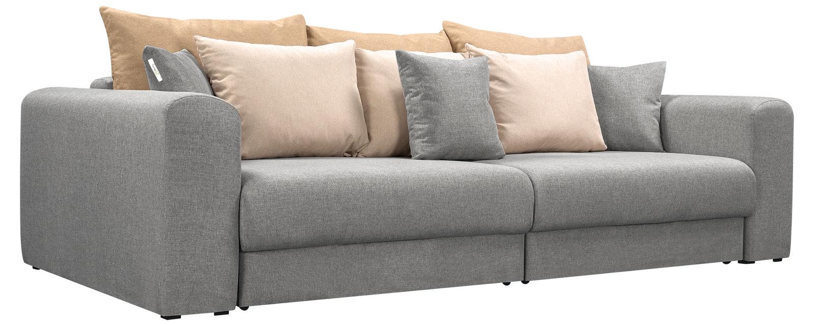 Купить со скидкой Модульный диван Медисон Вариант №4 Falcone серый (Рогожка)