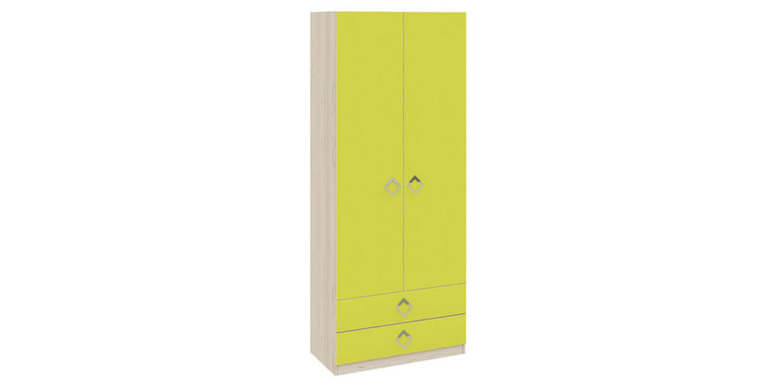 Шкаф распашной двухдверный Салоу (каттхилт/лайм)