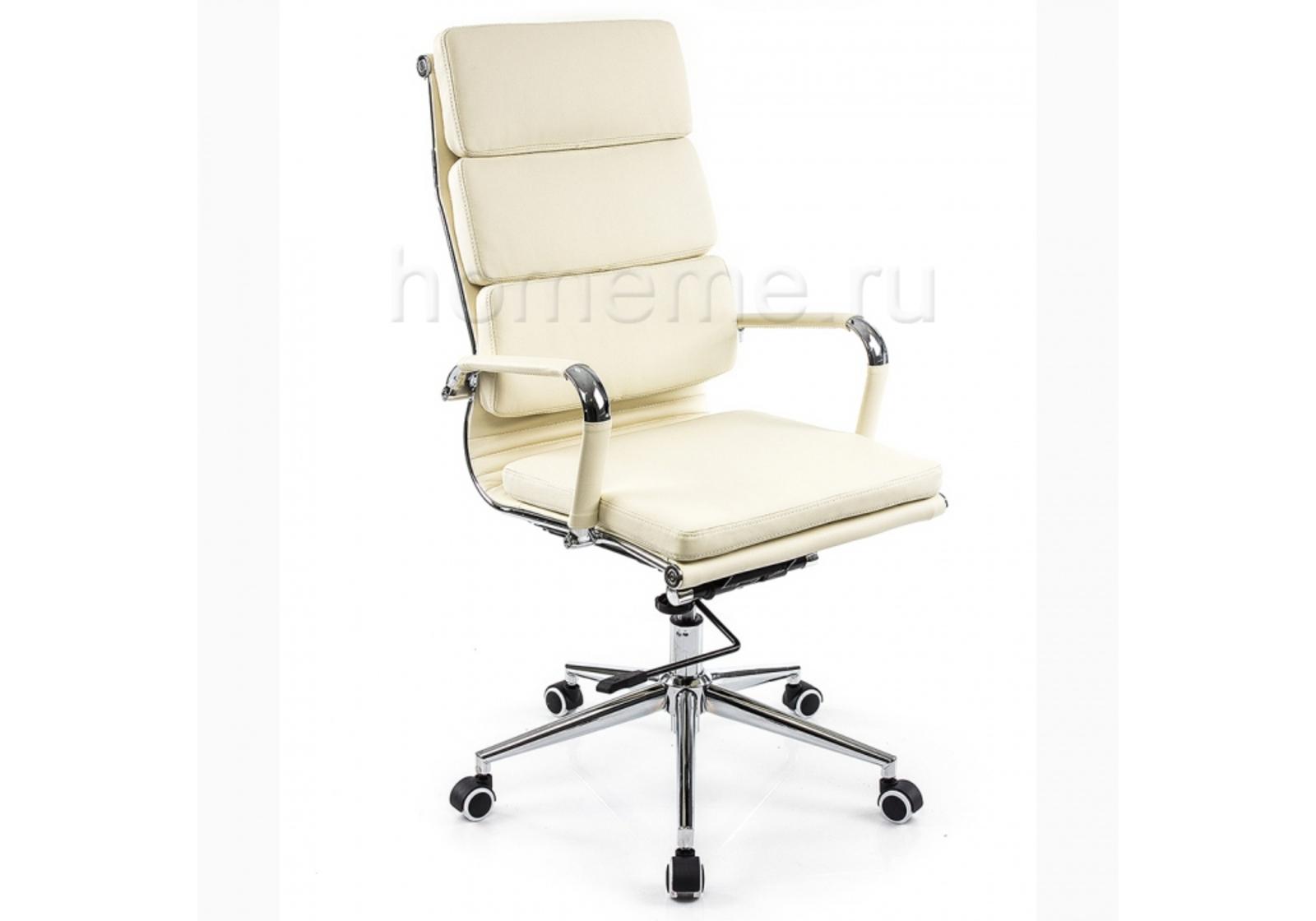 Кресло для офиса HomeMe Samora кремовое 1717 от Homeme.ru