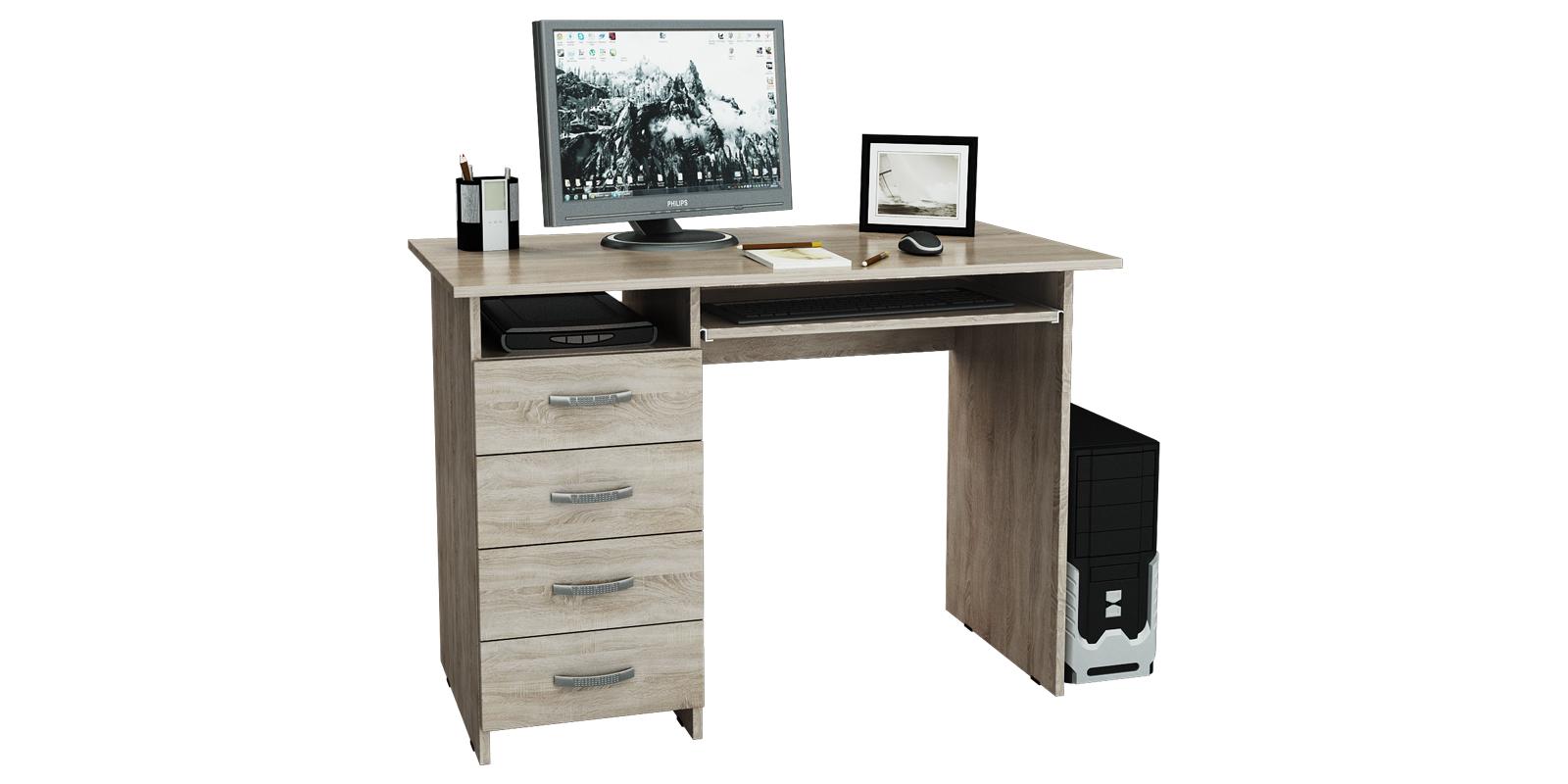 Стол компьютерный Харви левый (дуб сонома)