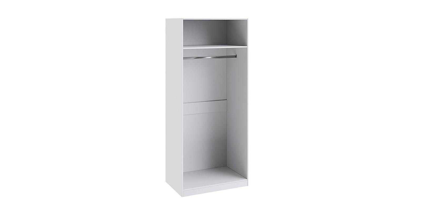 Шкаф распашной двухдверный Мерида вариант №1 левый (белый/зеркало)