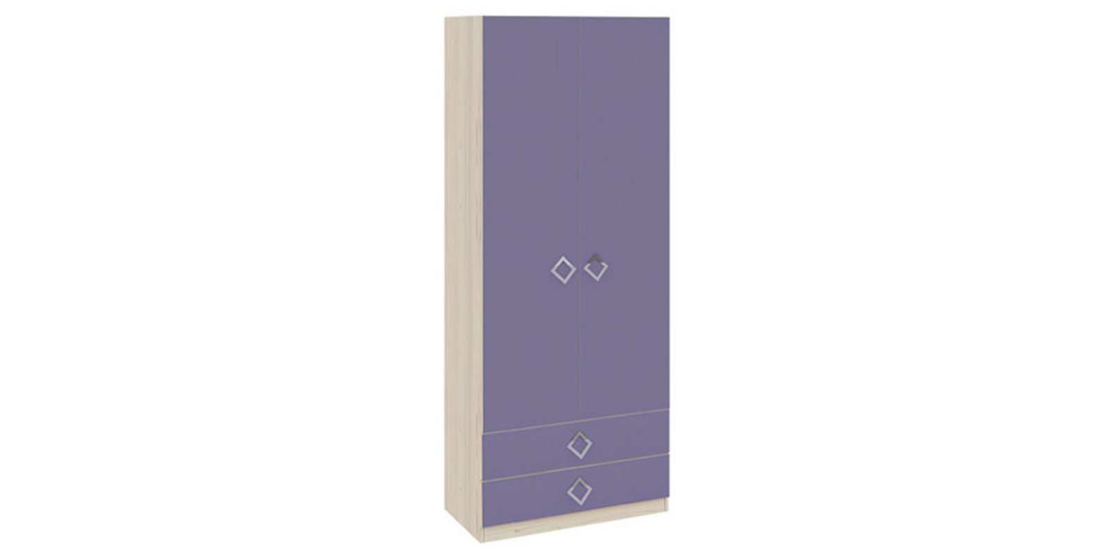 Шкаф распашной двухдверный Салоу (каттхилт/лаванда)