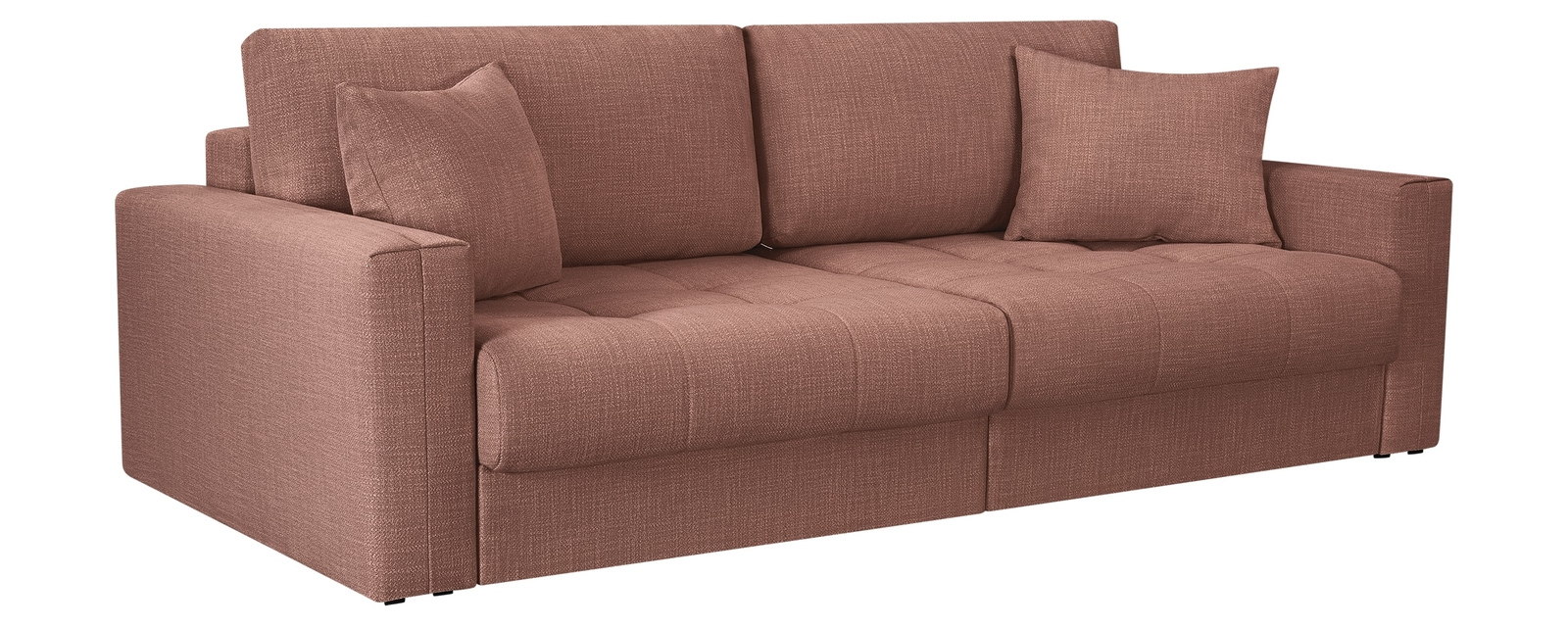 Модульный диван Брайтон вариант №1 Nobilia розовый (Рогожка) HomeMe