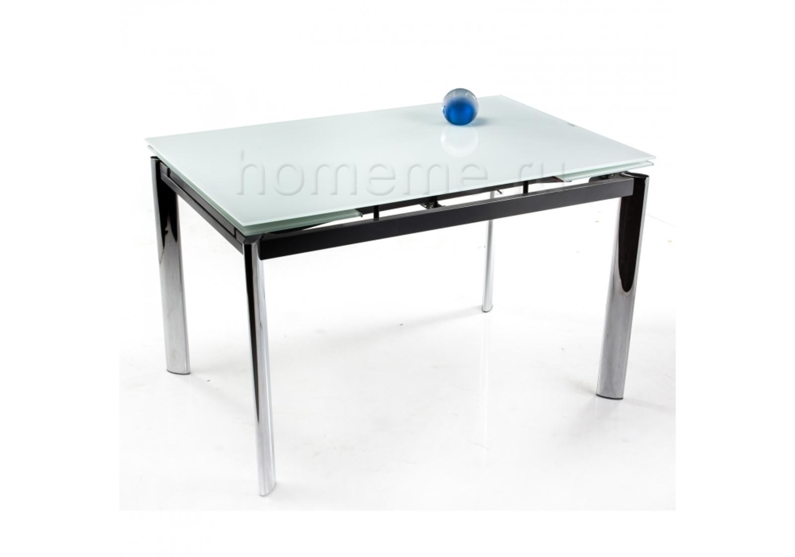 Стол стеклянный Cubo 120 экстра белый 1530 1530