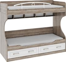 Двухъярусная кровать (без лестницы) «Прованс»