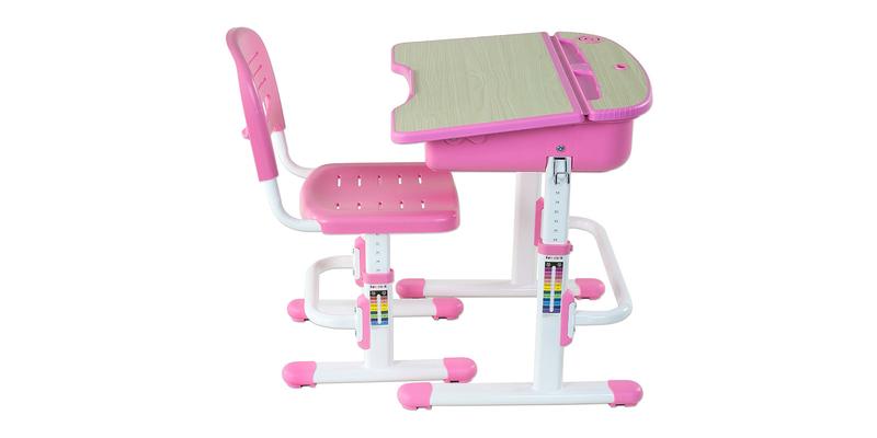 Детская парта Capri комплект парта + стул (белый/розовый)