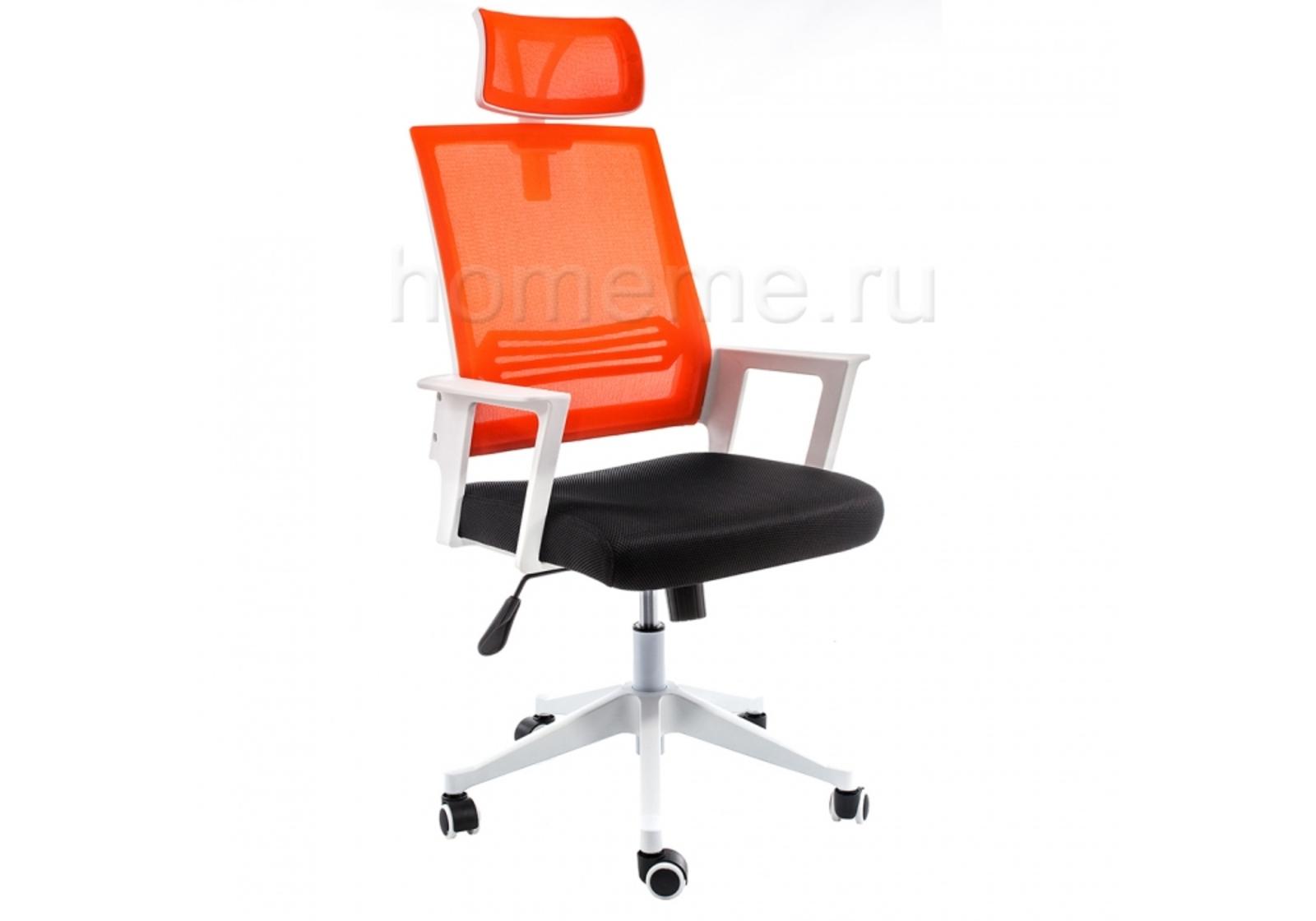 Кресло для офиса HomeMe Dreamer белое / черное / оранжевое 1985 от Homeme.ru