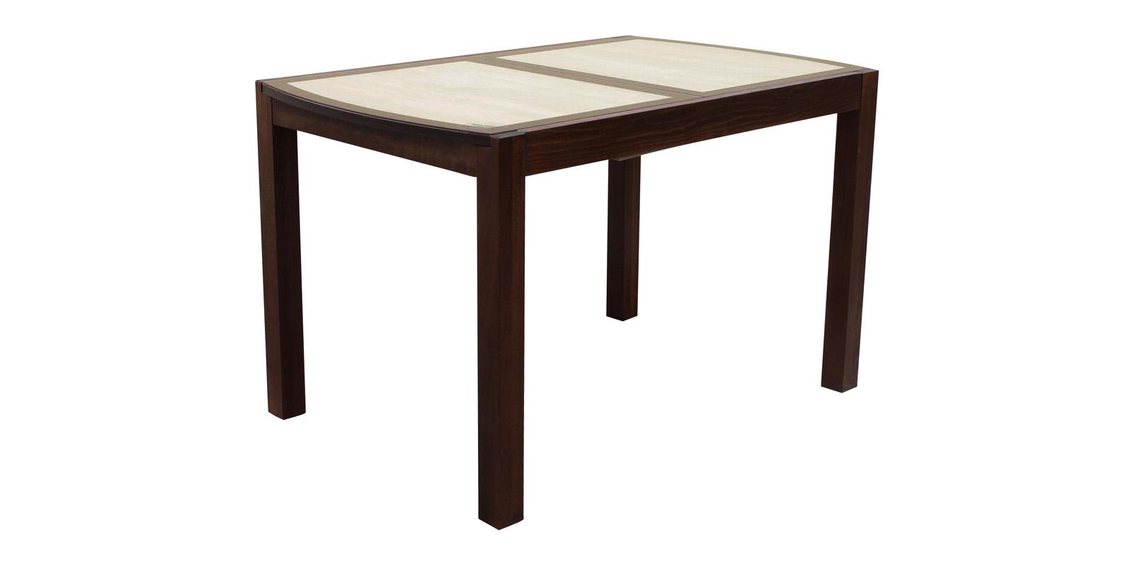 Обеденный стол Рига 170 см (орех темный/дуб сонома/стекло)