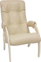 Кресло для отдыха Модель 61 Дуб шампань, к/з Polaris Beige