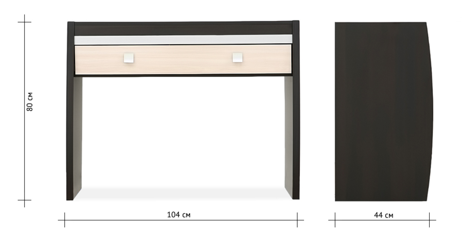 Столик туалетный Корсика (ясень глянец) от HomeMe.ru
