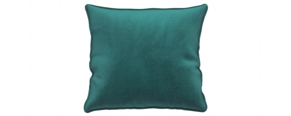 Декоративная подушка Портленд 41х41 см Premier изумрудный (Микровелюр)