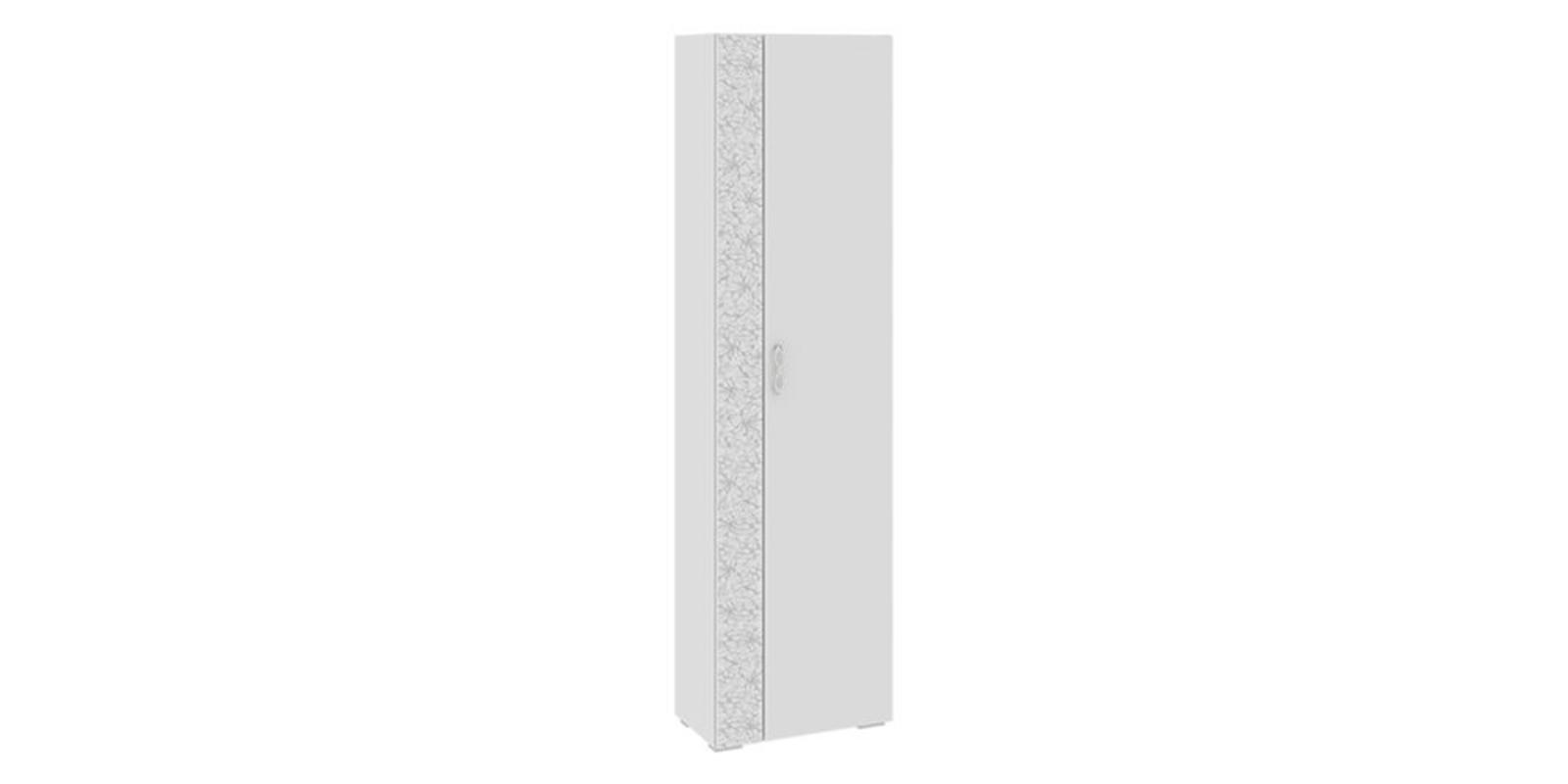 Шкаф распашной однодверный Давос вариант №3 (белый матовый)