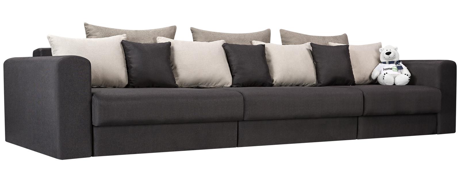 Модульный диван Медисон Вариант №1 Kiton тёмно-серый (Рогожка)