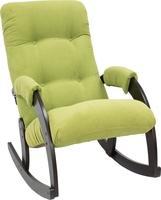 Кресло-качалка Модель 67 Венге, ткань Verona Apple Green