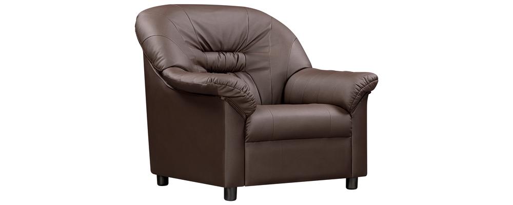 Кресло кожаное Женева Шоколадный (Натуральная кожа)