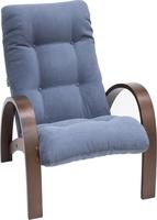 Кресло для отдыха Модель S7 Орех/шпон, ткань Verona Denim Blue