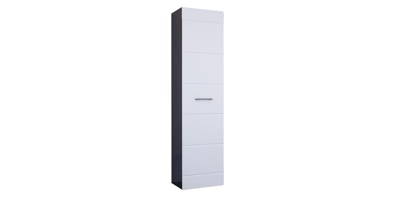 Шкаф распашной однодверный Римини (венге/белый глянец)