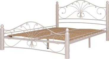 Кровать Фортуна 1/160*200/Металл/Белый/Белый/