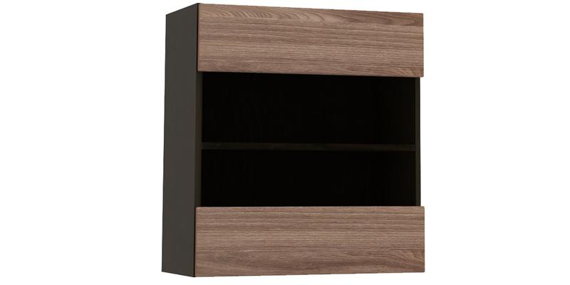 Шкаф навесной Верона со стеклом (венге/ясень шимо)
